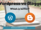 WordPress vs. Blogger- Blogging platform for beginners