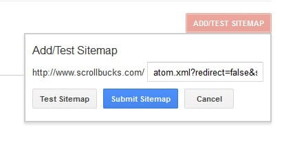 sitemap submit in blogger