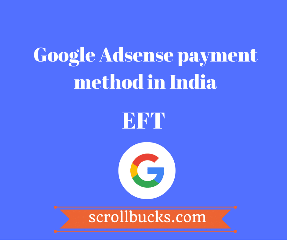 adsense payment method in india