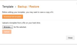 How to backup your blogger blog?