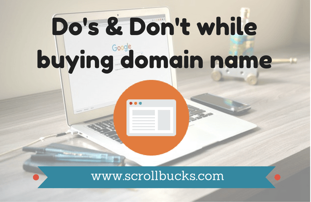 Do's & Don't while buying domain name