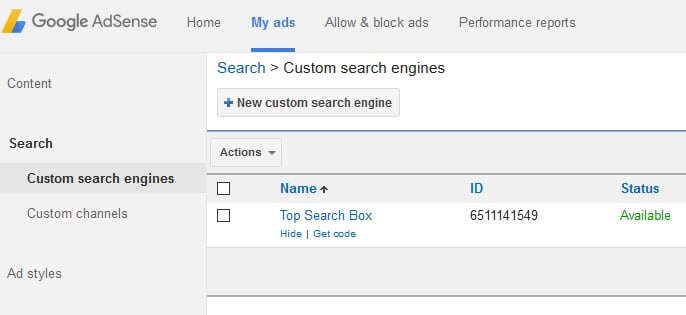 custom search box