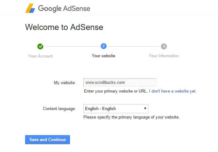 adsense website information