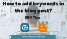 How to add keywords smartly in WordPress blog post for optimization?