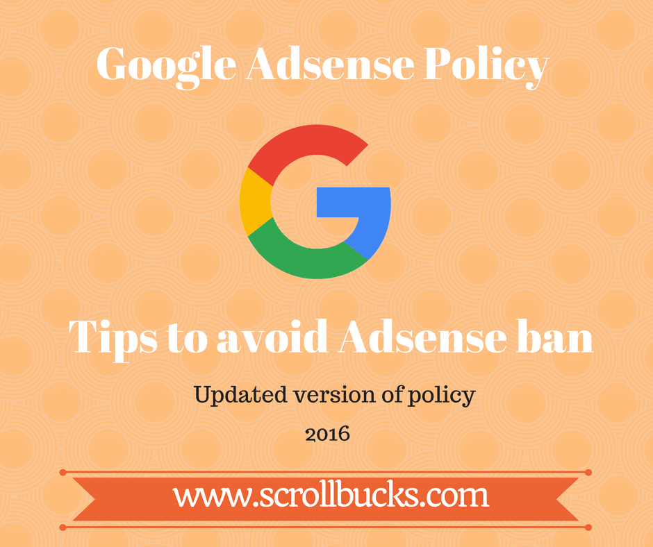 avoid adsense ban