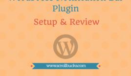 WordPress notification bar plugin setup and review