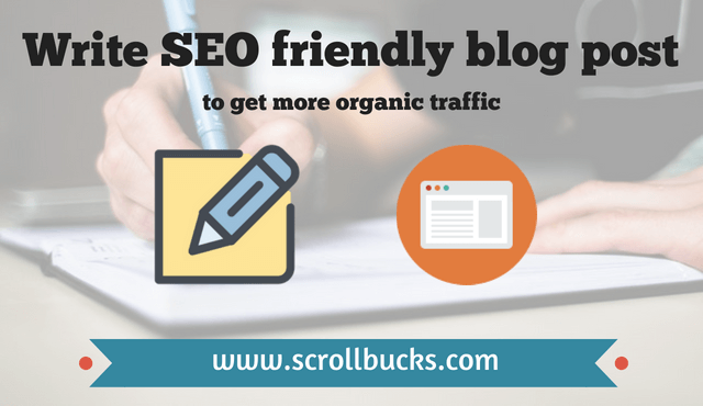 Write SEO friendly blog post