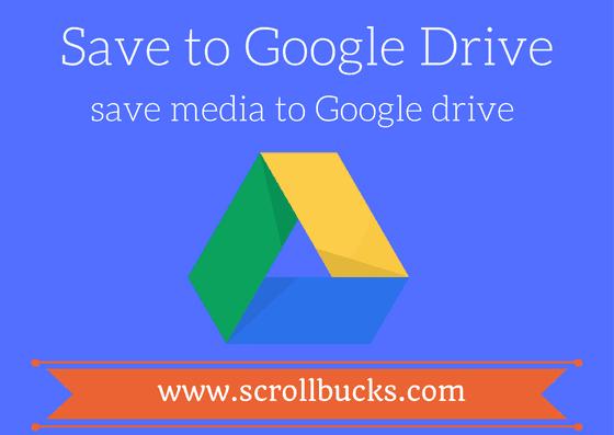 save to google drive chrome plugin