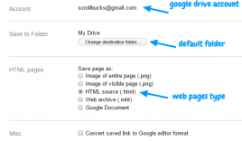 Save to Google Drive- Chrome plugin to save web content