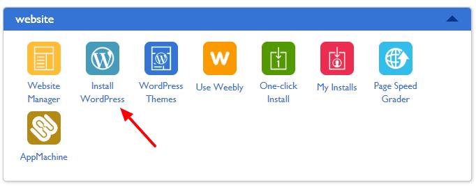 install wordpress in bluehost
