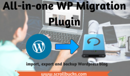 All-In-One WP Migration WordPress plugin to safely switch host