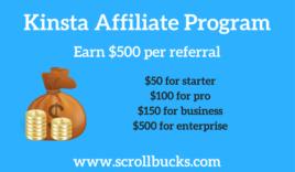 Kinsta Affiliate Program- Earn upto $500 per referral