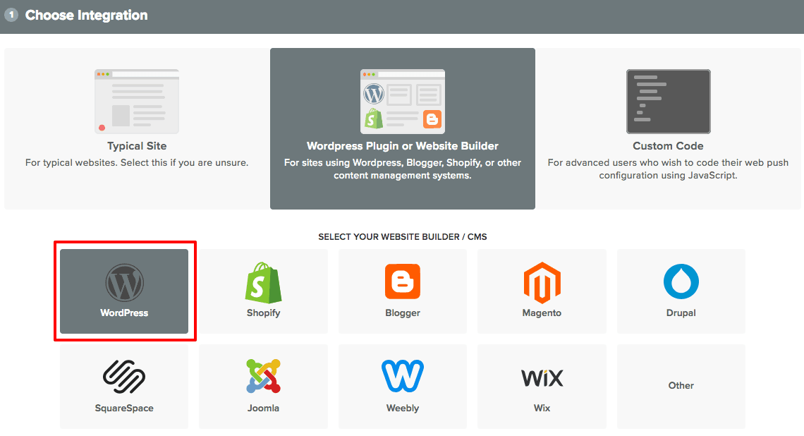 OneSignal using wordpress plugin