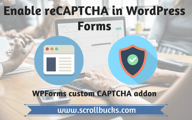 enable recaptcha in wordpress forms