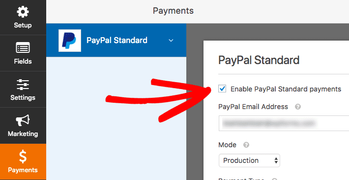 enable paypal standard