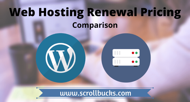 Web hosting renewal pricing