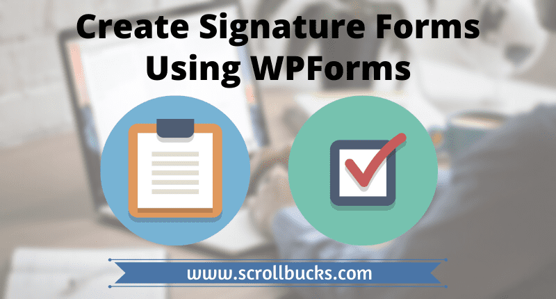 create signature forms in wordpress