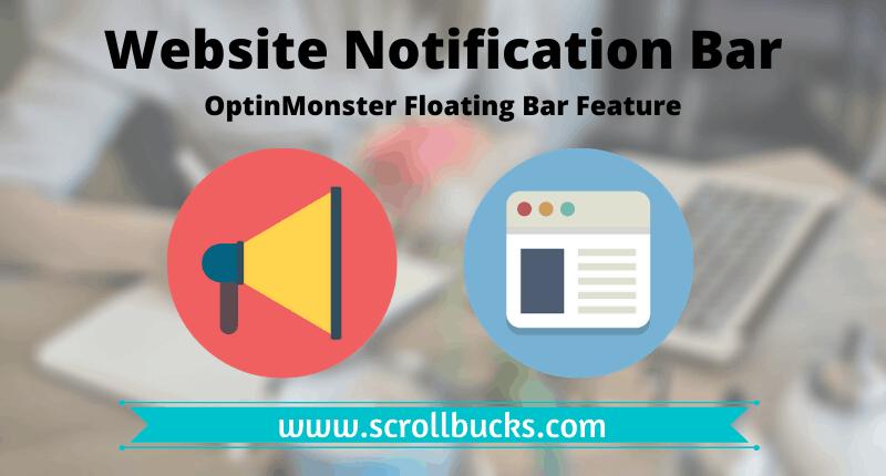 website notification bar