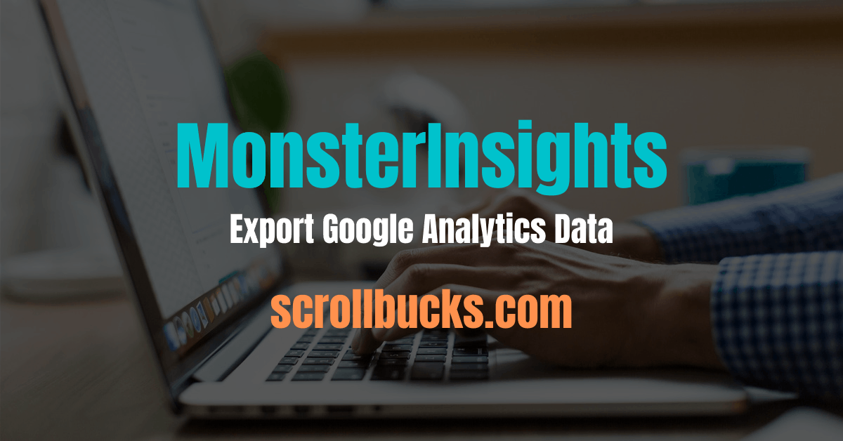 MonsterInsights export google analytics data