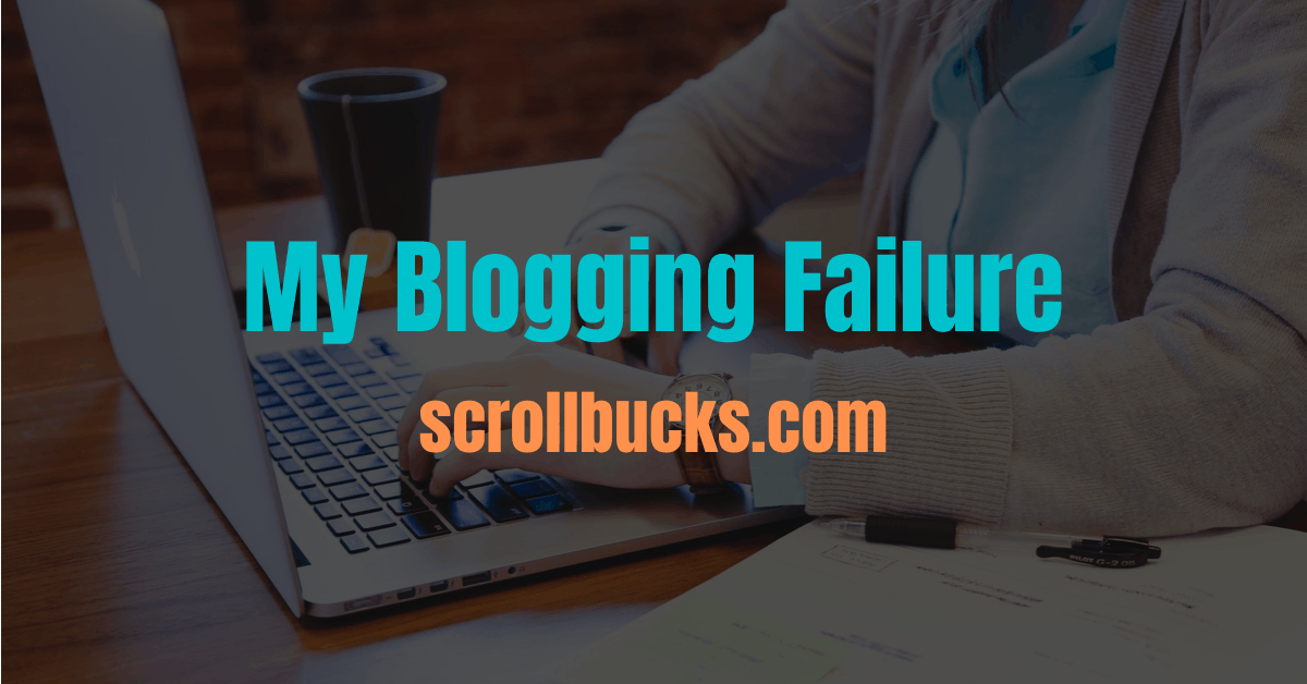 my blogging failure