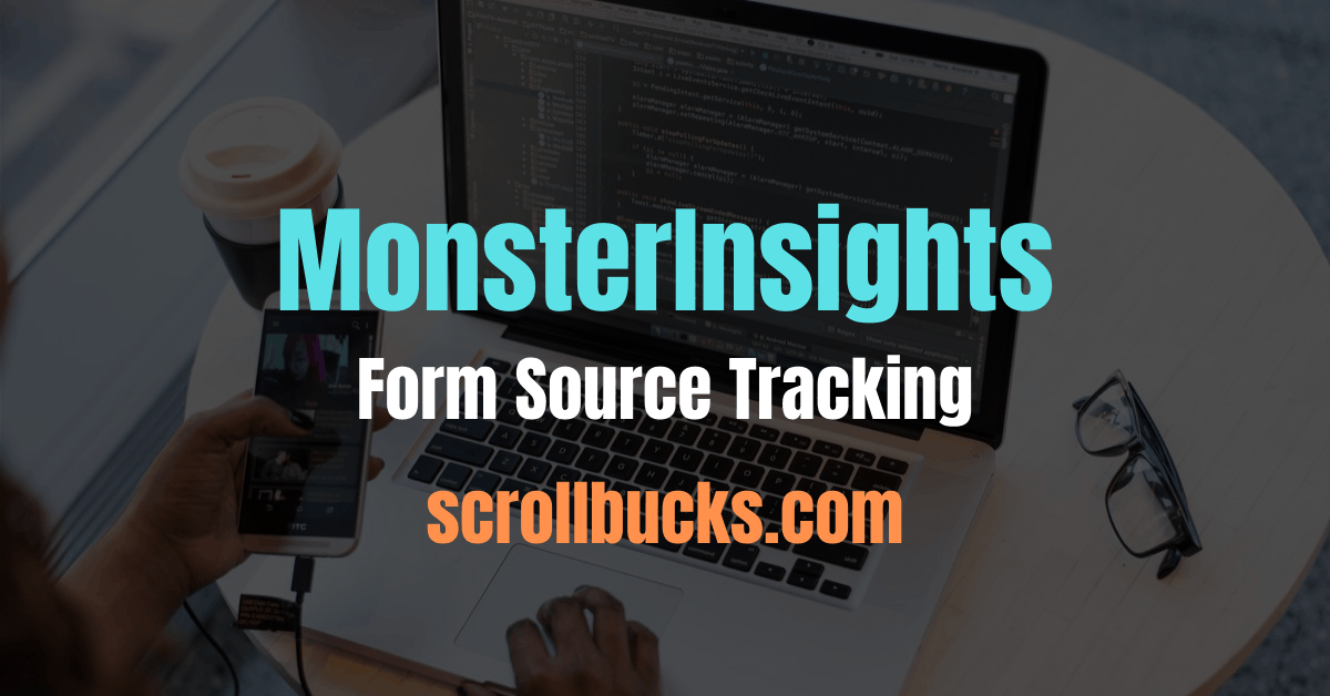 monsterinsights form source tracking